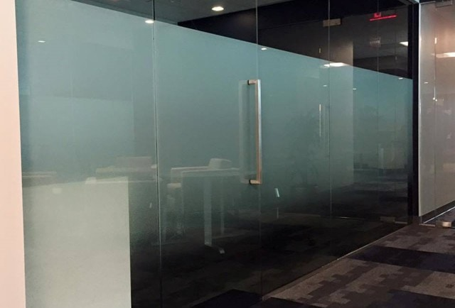 privacy film glass offices dc