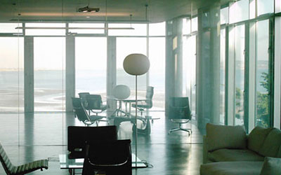 Smart Film installed in office blocking harmful UV rays