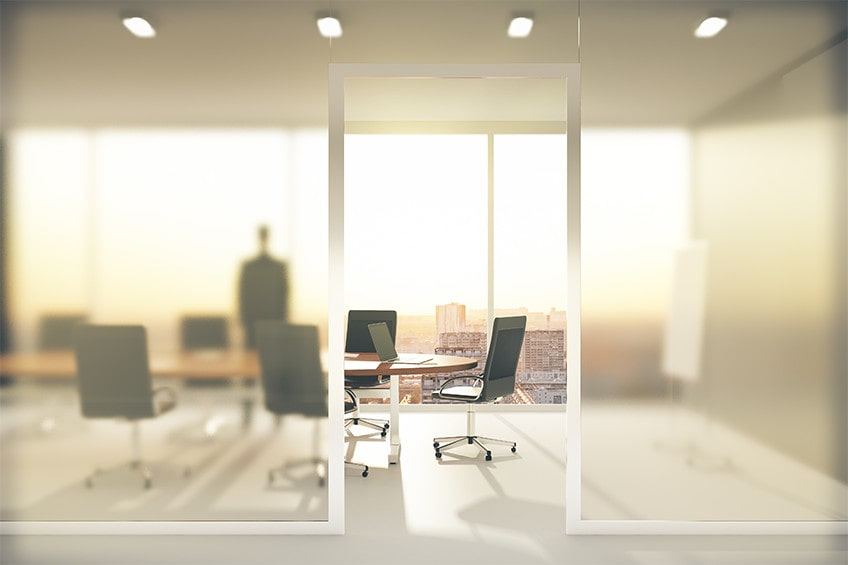privacy film for a conference room