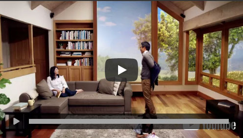 Man and woman comfortable in a home using General Solar Window Fils as a Temperature Control