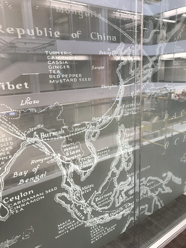 decorative film china map