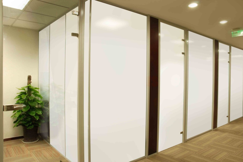 smart film for privacy in a the workplace