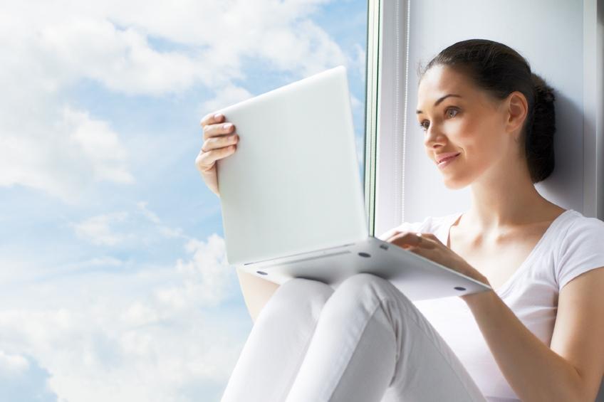 woman researching 3m window film